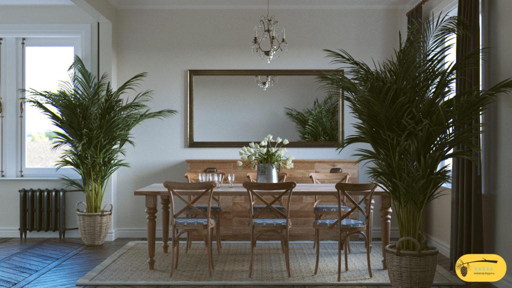 Дизайн и 3д визуализация гостиной