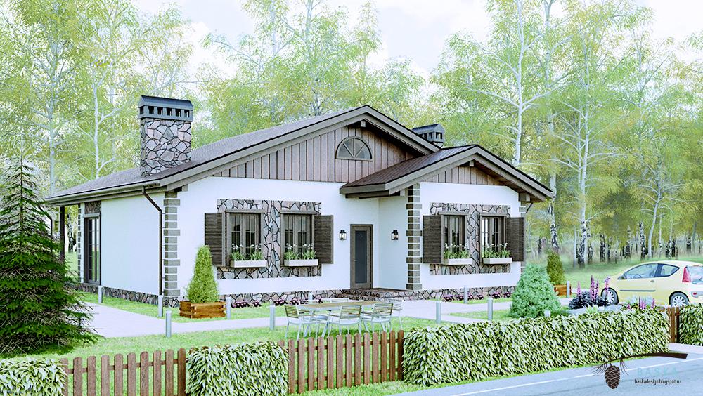 3Д моделирование и 3Д визуализация частного дома
